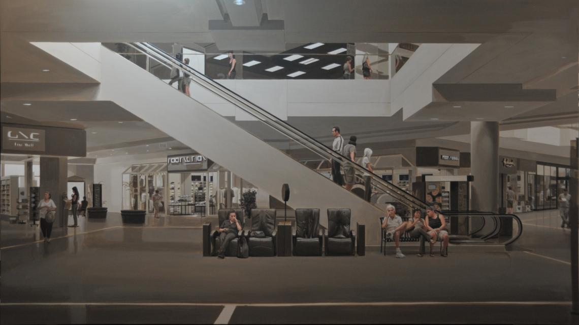 Burbank Mall underpainting